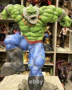 Sideshow Green Hulk Comique Statue Exclusive Customized Un D'un Chêne Genre