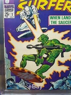 Silver Surfer 2 Cgc 9.8 Série Signature Stan Lee! Unique En Son Genre! 1968
