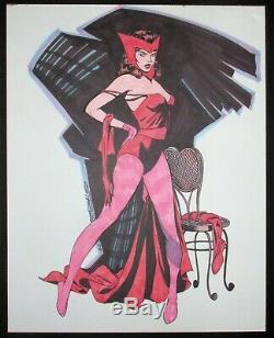 Sorcière Rouge Original Art Steve Rude Commission Marvel One Of A Kind