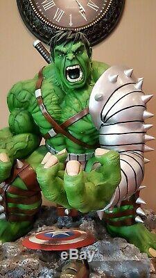 Statue Unique De Hulk Datant De La Première Guerre Mondiale, Telle Que Sideshow & Bowen Avengers Marvel