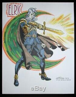 Steve Rude Art Original Elric Commission Full Color One Of A Kind