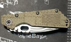 Strider Smf Personnalisé Gravé Couteau G10 Titane S30v One Of A Kind