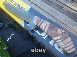 Super Rare One Of A Kind Buck 890/650 Bo Knife Custom Heath Stone Etats-unis