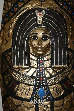 Taille Complète, Unique, Un Sur Son Genre En Bois Fait À La Main Cercueil & Sarcophage Réplique
