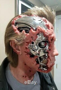 Taille De La Vie 11 Terminator T2 Buste Bataille Scène Endommagé 5 Réaliste Un D'une Sorte