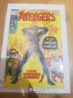 The Avengers N ° 87 Un Couvert Triple! Panthère Noire D'origine