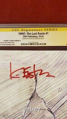 Tmnt Le Dernier Ronin #1 Cgc 9.9 Momoko Sketch Un D'un Genre 9.9 Eastman Signé