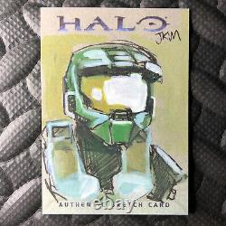 Topps Halo 2007 Master Chief Jkm Sketch Card One-of-a-kind Art Microsoft Xbox