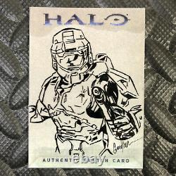 Topps Halo 2007 Sketch Card Kevin Graham Art Unique Microsoft Xbox