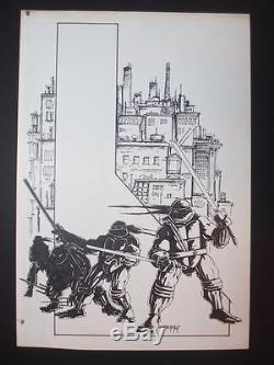 Turtle Soup Pencil & Ink Illustration (1987) De Kevin Eastman Unique En Son Genre