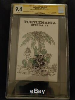 Turtlemania Spécial # 1 Cgc Ss 9.4 Kevin Eastman Signature One-of-a-kind Sketch