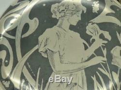 Un D'une Sorte Antique Art Nouveau Argent Invar & Nielle Chronometer Montre De Poche
