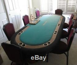 Un D'une Sorte Article Mgm Grand Casino Las Vegas 9 Seat Poker À Plein Table Chaise With9
