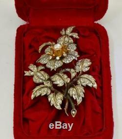 Un D'une Sorte De Lourde Diamonds & Platinum 4ct Broche Pour L'impératrice Sisi D'autriche