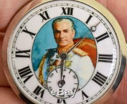 Un D'une Sorte De Platine Et Diamants Montre De Poche Pour Mohammad Reza Pahlavi