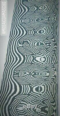 Un D'une Sorte Mosaic Modèle Damas Acier Custom Handmade Billet 12x2 5 MM