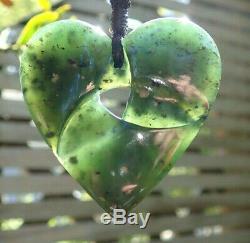 Un De Genre Nz Maori Greenstone Pounamu Tangiwai Greenstone Moebius Coeur