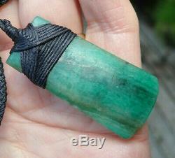Un De Type Nz Pounamu Turquoise Aotea Pierre Fuchsite Bound Maori Hei Toki Herminette