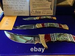 Un Des Kind Buck Kalinga Knife Set Par Yellowhorse