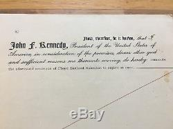 Un Parent De L'historique 1963 Pardon Signé Par Le Président John Kennedy Et Rfk