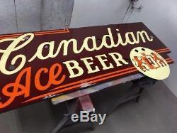 Un Signe Unique De Bière Au Canada En Porcelaine Ace (aucun Néon) De Chicago