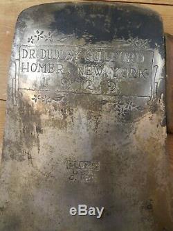 Un-de-a-nature Que Ce Soit Plumb 1929 Présentation Ax Hatchet Poignée Originale Et Peinture Mint