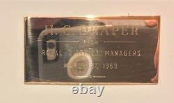 Une Machine À Écrire Royale Signée Par Les Directeurs De District 3/31/1959 Rare