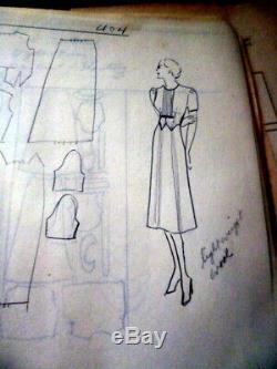 Unique En Son Genre Des Années 1930 Conception De La Robe De Dessin Modèle Manuel De Cours
