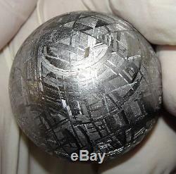 Unique En Son Genre Énorme Sphère Gravée, 410 Gm, Muonionalusta, 410 Gm