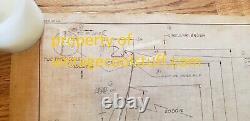 Unique En Son Genre! Original 1965 Corvette Wheel Cover Blueprint! (pas Une Copie)