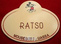 Unique En Son Genre Ratso Walt Disney World Nametag Cast Nom Du Membre Tag Mickey Mouse