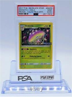 Unique En Son Genre, Shiinotic, Psa 9, Off Centre (oc) Card, Staff, Pre-release Pokemon