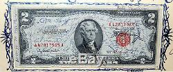 Unique En Son Genre Signé Par John Glenn, 1953, Espace Original Volé, 2 Dollars Américains, Facture