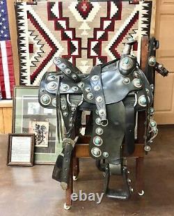 Unique En Son Genre! Tommy Singer Silver Et Turquoise Covered Saddle Avec Accessoires