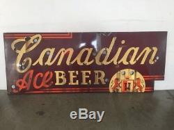 Unique Enseigne Canadienne En Porcelaine À La Bière (aucun Néon) De Chicago