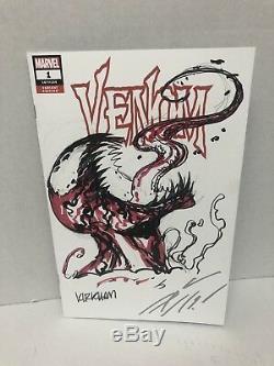 Venom 1signed By Donny Cates & Tyler Kirkham L'un Des Dessins Originaux De Carnage