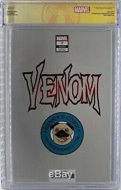 Venom # 7 Cgc 9,8 Ss Clayton Crain Sketch Mint One Of A Kind Beauté Question Clé