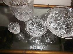 Verres De Cristal Taille Antique Ensemble Exquis(40)custom Fait Un D'un Type