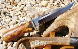 Vintage Buck Couteau 119v Personnalisé Sibérie Reindeer One Of A Kind