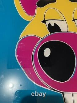 Vintage Chuck E Cheese Poster Acrylique Super Rare Un D'un Genre Andy Warhol Pizza