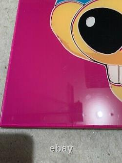 Vintage Chuck E Cheese Poster Acrylique Super Rare Un D'un Genre Andy Warhol Rose