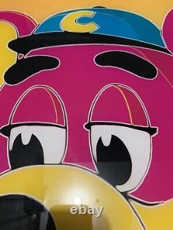 Vintage Chuck E Cheese Poster Acrylique Super Un D'un Genre Andy Warhol Jaune