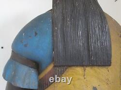Vintage Cigar Store Figurine Fibre De Verre Après Robb Un Des Types