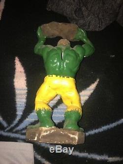 Vintage Incroyable Hulk Statue Un Rare Of A Kind 60, 70 S, S