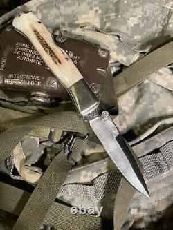 Vintage Pocket Knife-blackjack Pliant Mamba Personnalisé Lefty. C'est Une Sorte De Gentillesse.