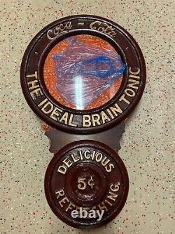 Vintage Unique En Son Genre Coca Cola Baird Clock The Ideal Brain Tonic Mint