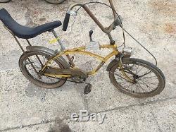 Vintage Vélo Hercules Banana Seat Une Sorte Fabriqué En Angleterre Tout D'origine