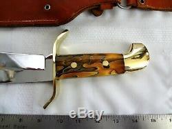 Vintage Western Bowie Knife W49 Sur Commande D'un Genre