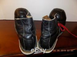 Vtg Leather Clown Shoes Cirque Unique En Son Genre! Hobobum Fabriqué Professionnellement