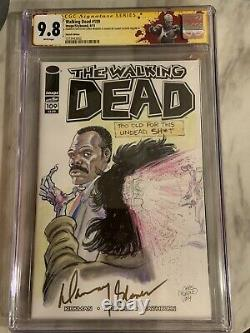 Walking Dead Cgc Ss 9.8 Danny Glover Original Art One Of A Kind Sketch Cover